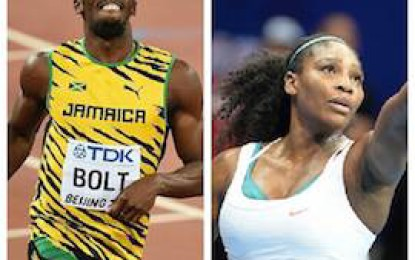 Bolt and Williams voted AIPS best athletes 2015, FC Barcelona best team, Beijing best press facility