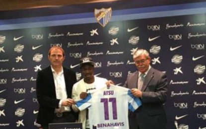 Christian Atsu unveiled by Malaga