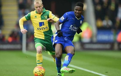 Daniel Amartey makes Leicester debut in 1-0 win over Norwich