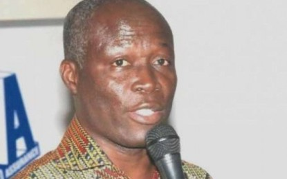 Minister Constructs B. Ball Court …For GIMPA