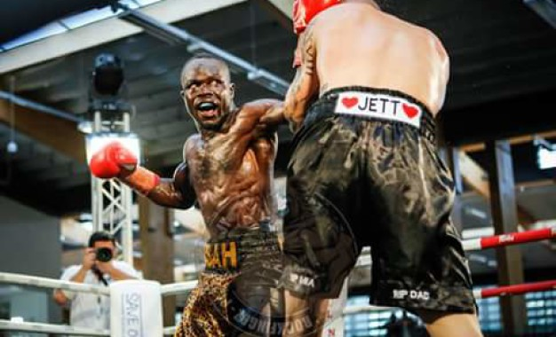 Ghanaian Kick boxer turned boxer Hardwanlee wins in Australia